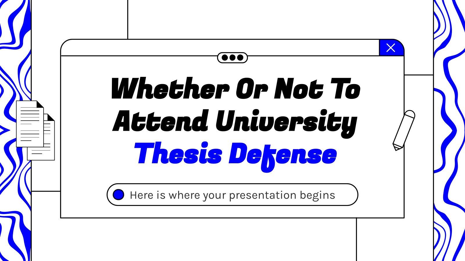 Décider d'aller ou non à l'université : Modèles de présentation