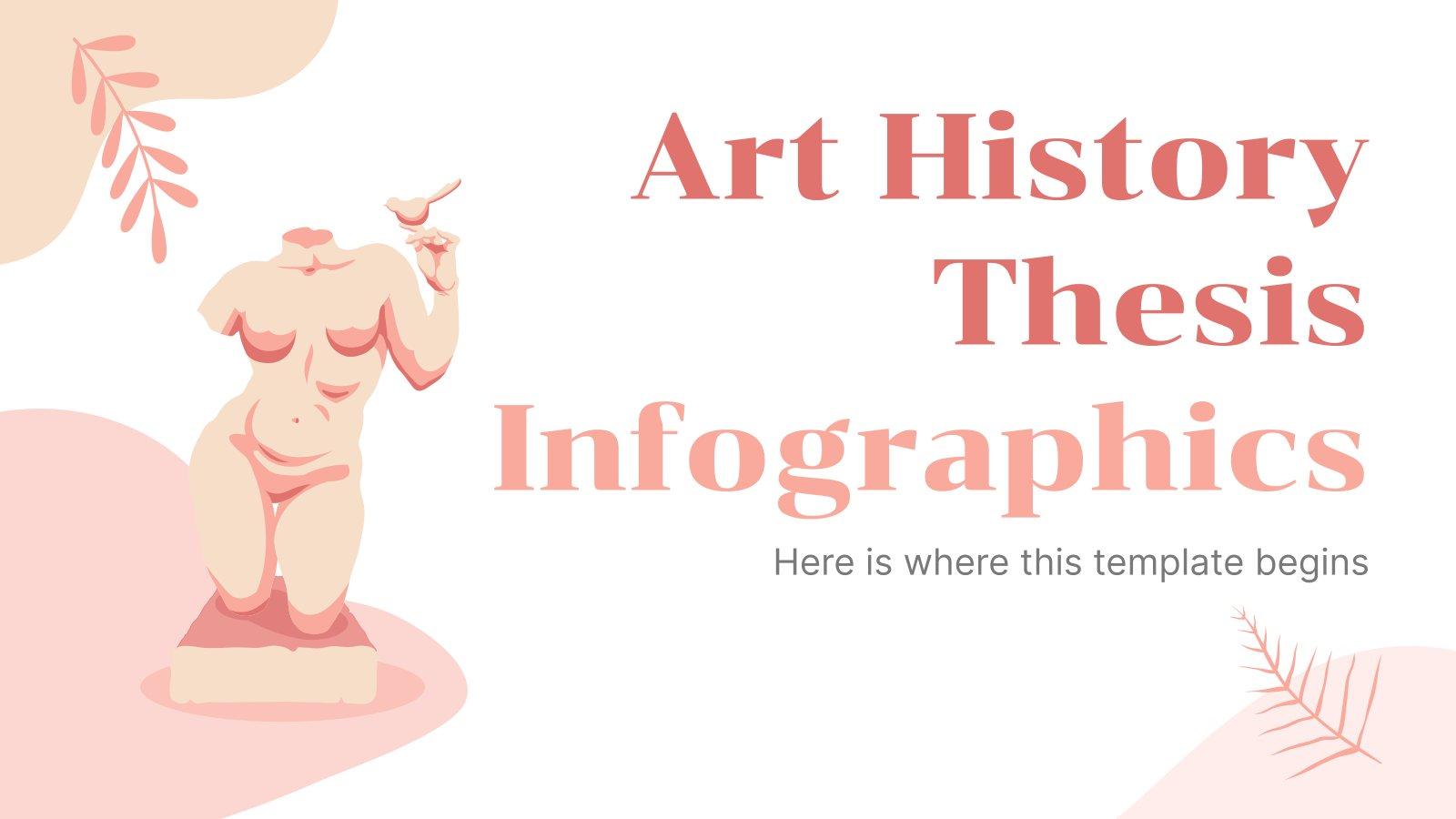 Modelo de apresentação Infográficos tese de História da Arte