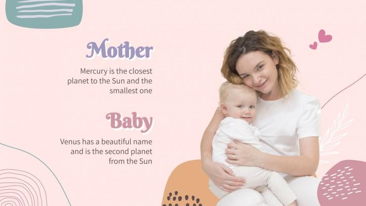 Minithème mère et bébé : Modèles de présentation
