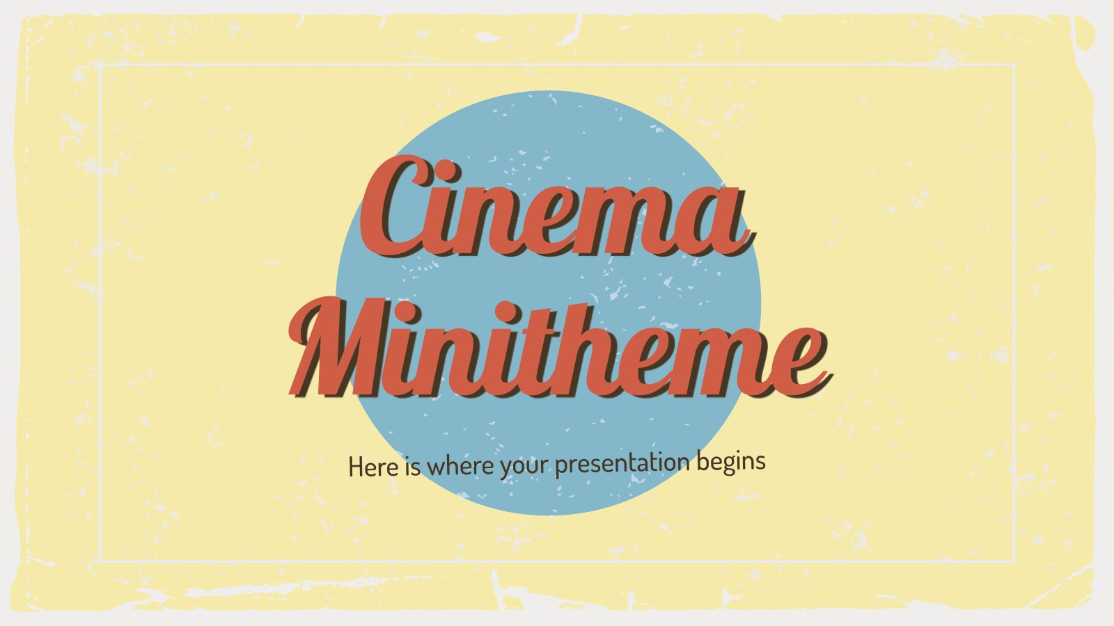 Cinema Minitheme presentation template