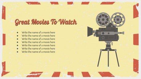 Kino Minithema Präsentationsvorlage