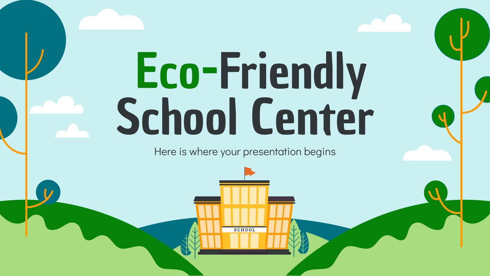 Eco-Friendly School Center presentation template