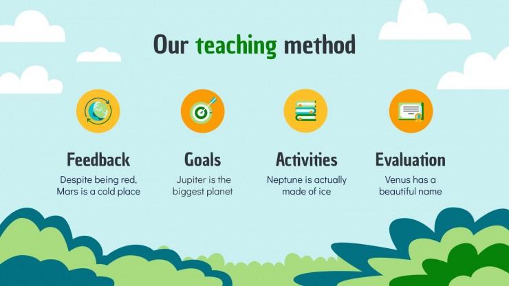 Umweltfreundliches Schulzentrum Präsentationsvorlage
