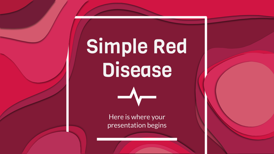 Simple Red Disease presentation template