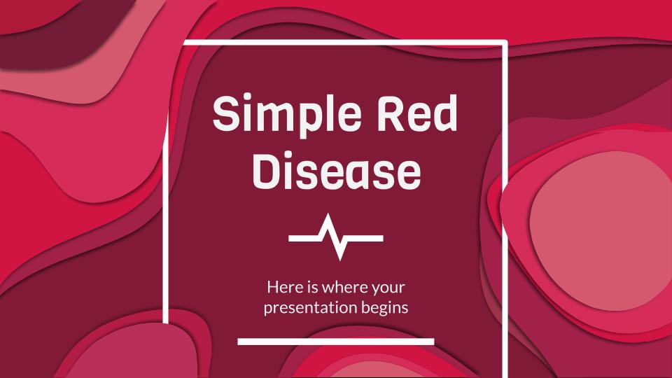 Maladie rouge simple : Modèles de présentation