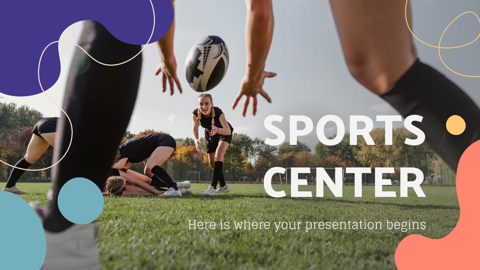 Plantilla de presentación Centro deportivo