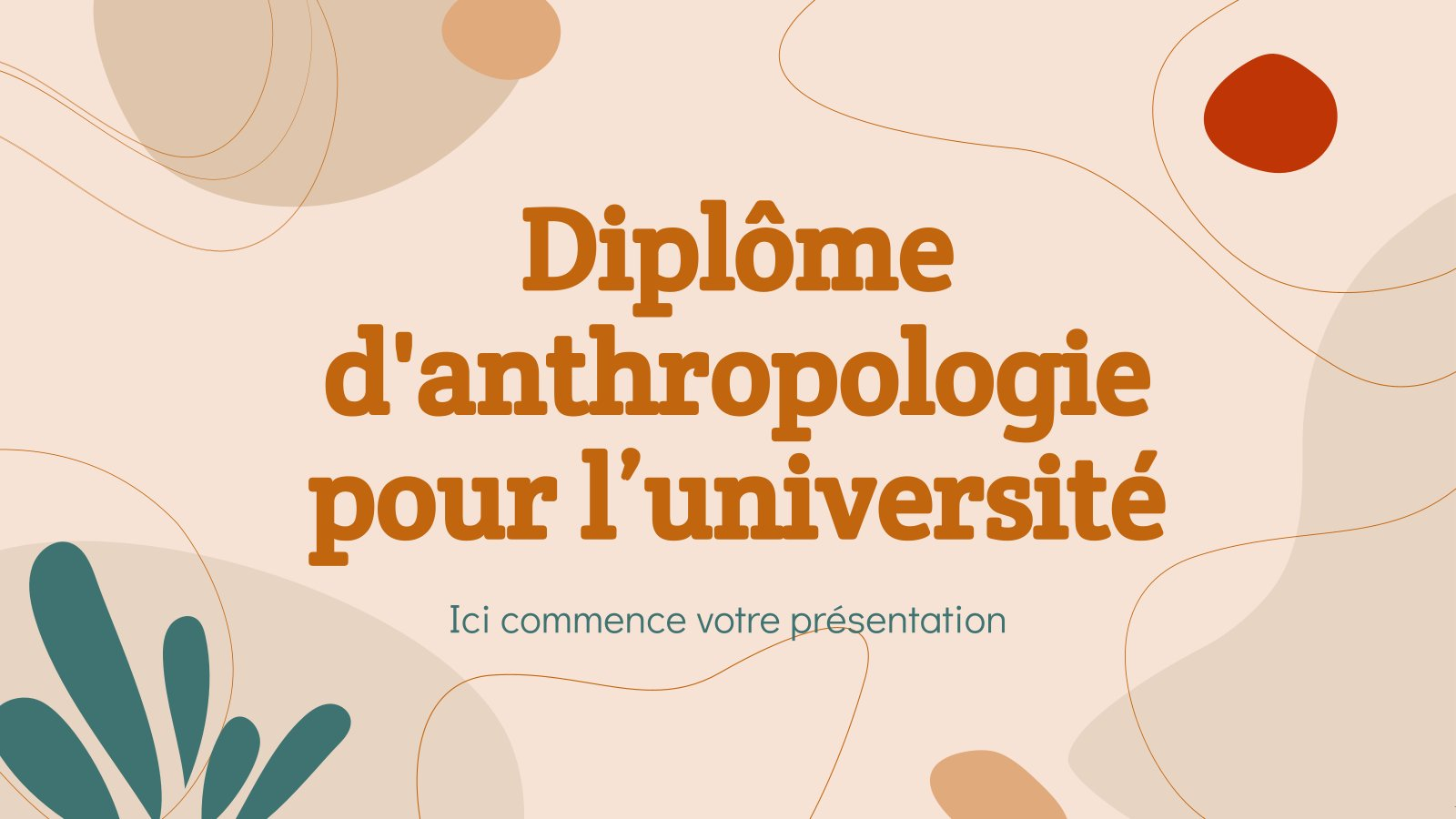 Diplôme d'anthropologie pour l'université presentation template