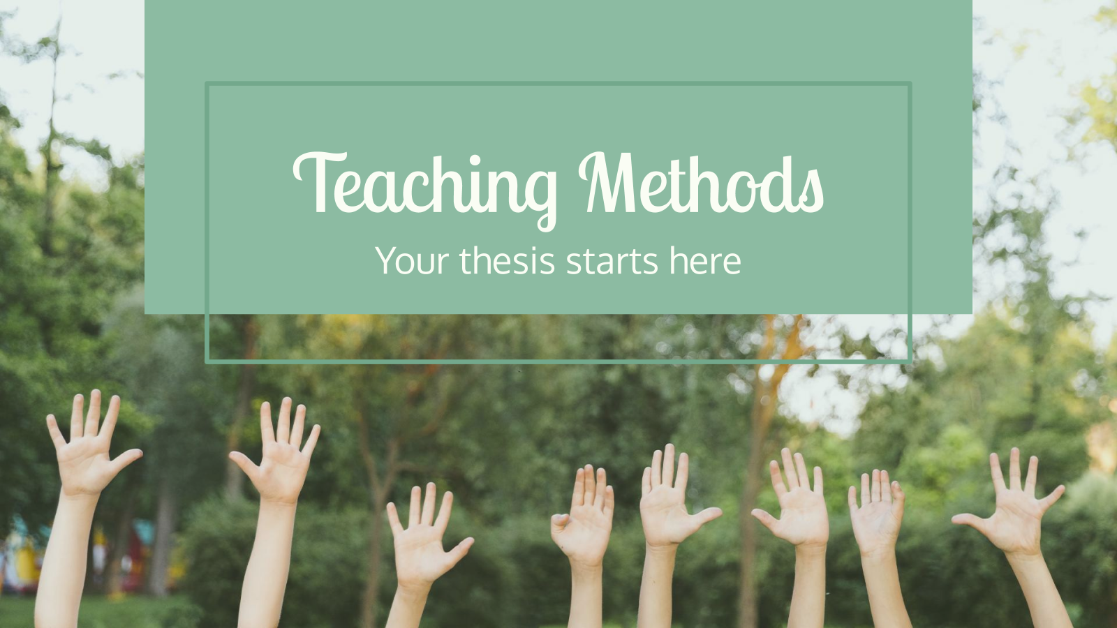 Teaching Methods Thesis presentation template