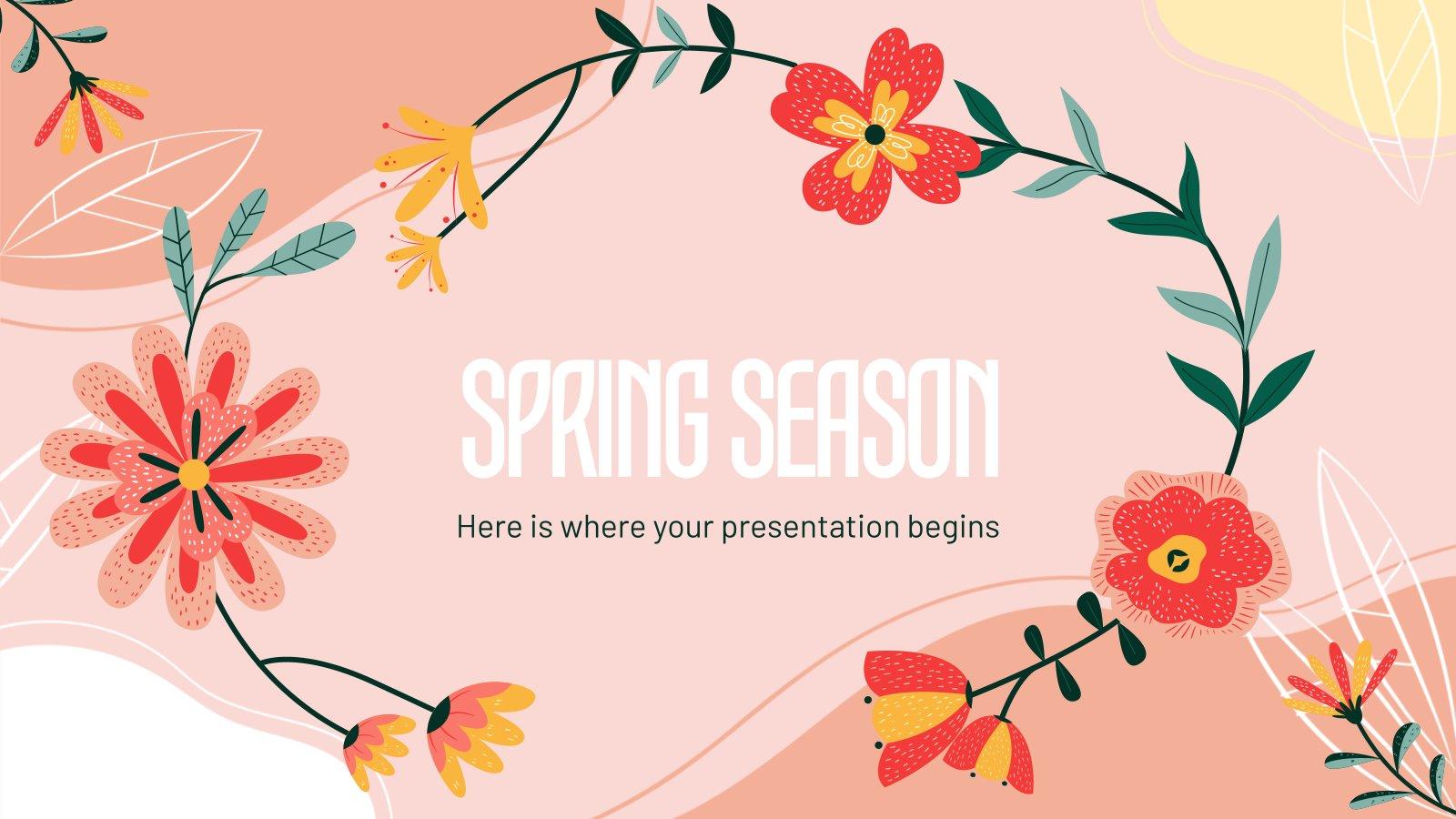 Modelo de apresentação Chegou a primavera