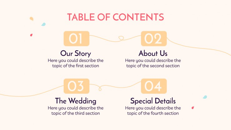 Our Wedding presentation template