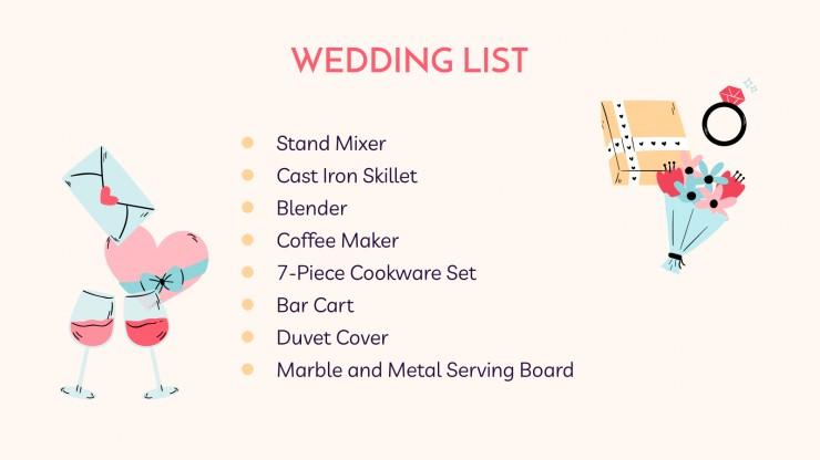 Plantilla de presentación Nuestra boda