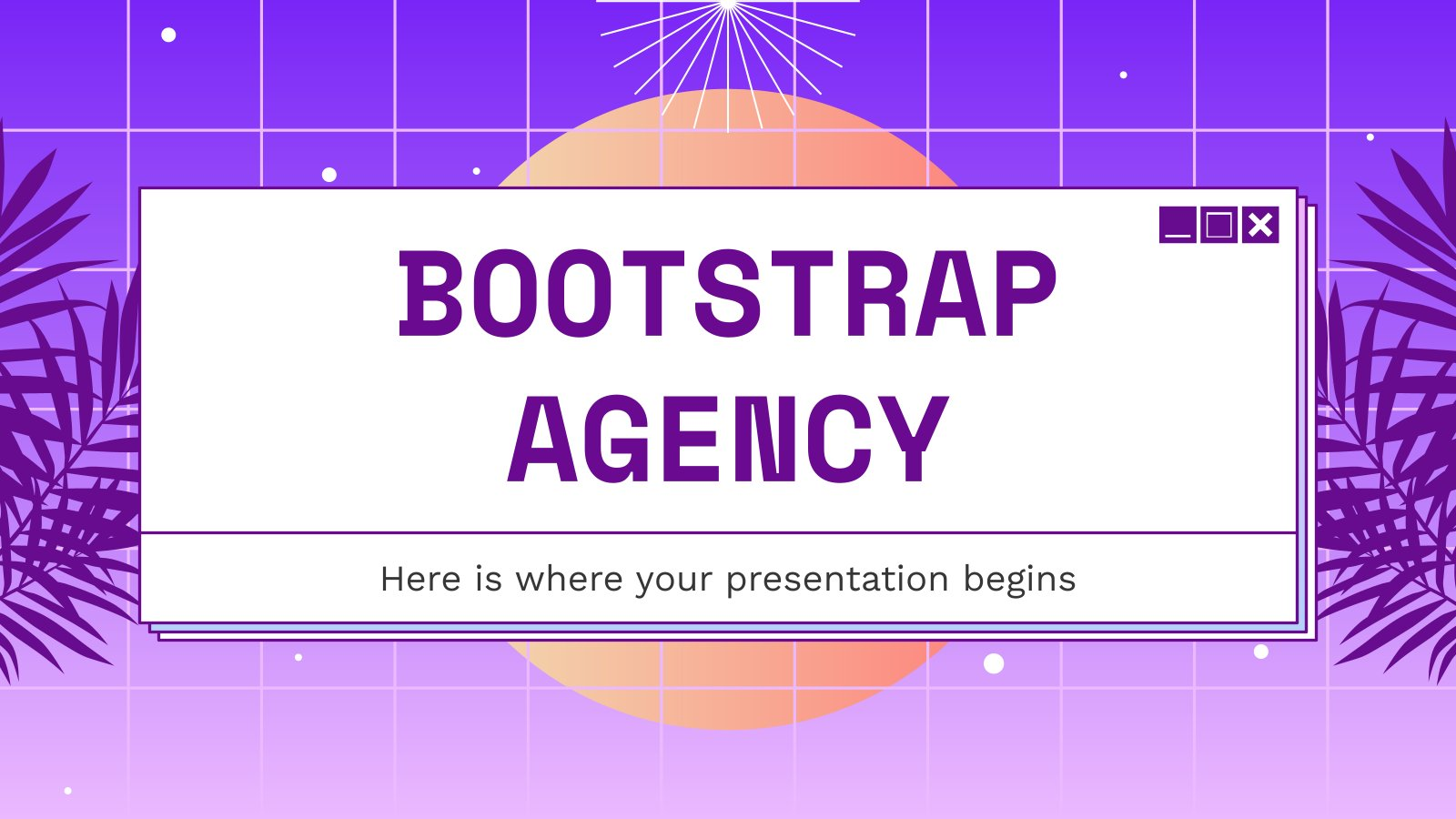 Bootstrap Agency presentation template