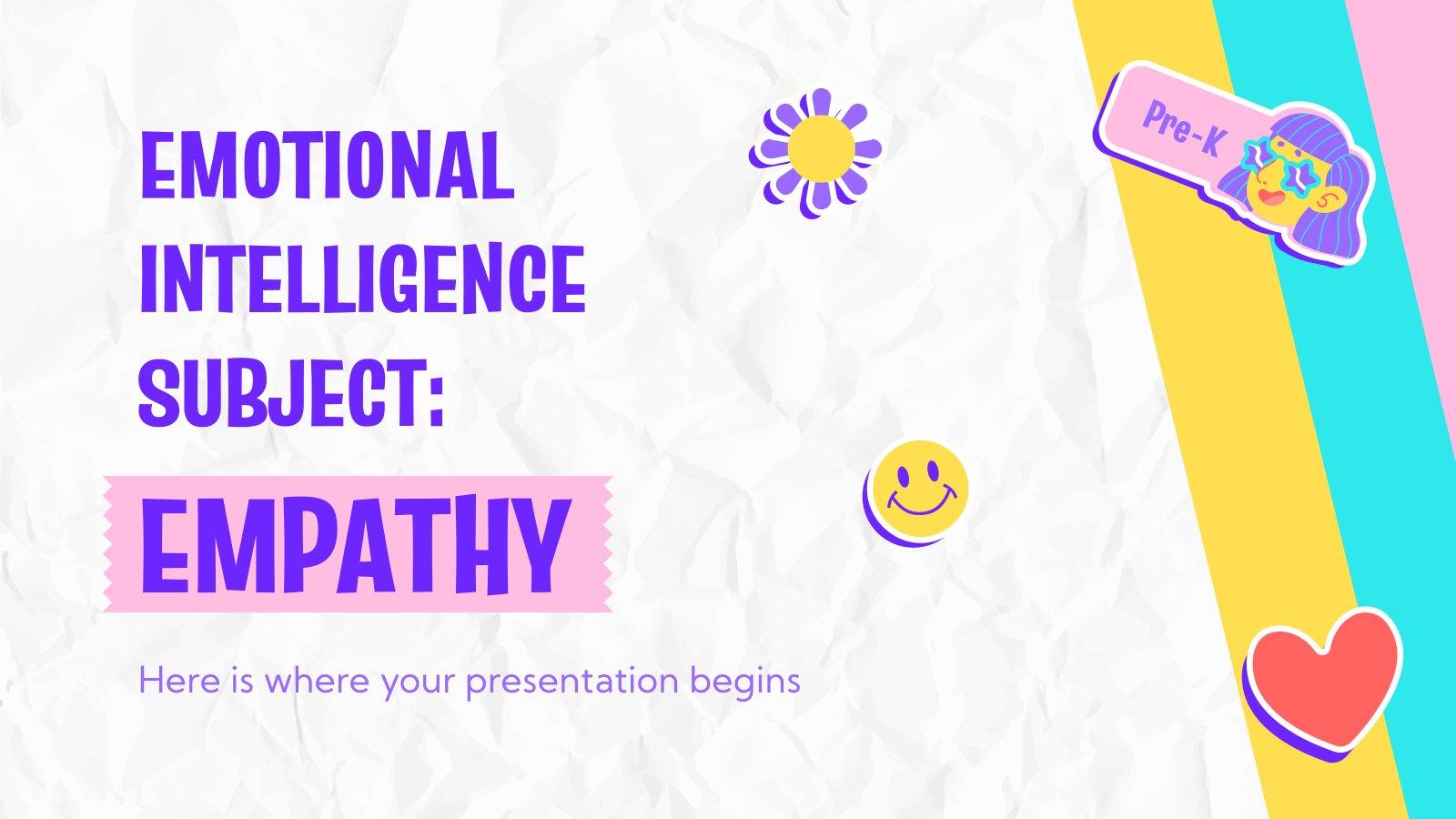 Plantilla de presentación Inteligencia emocional para preescolar: Empatía