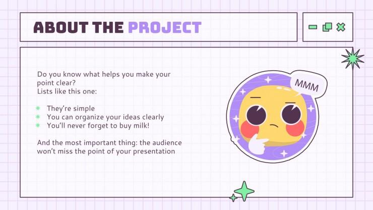 Proposition de projet d'interface Kawaii : Modèles de présentation