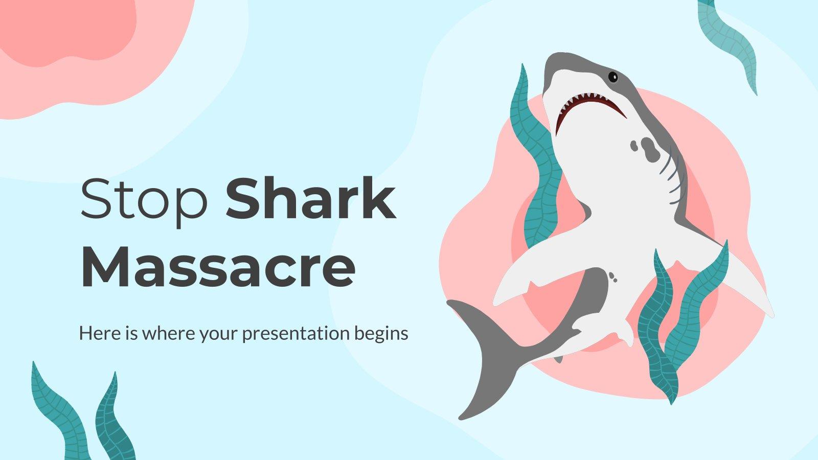 Modelo de apresentação Parar o massacre de tubarões