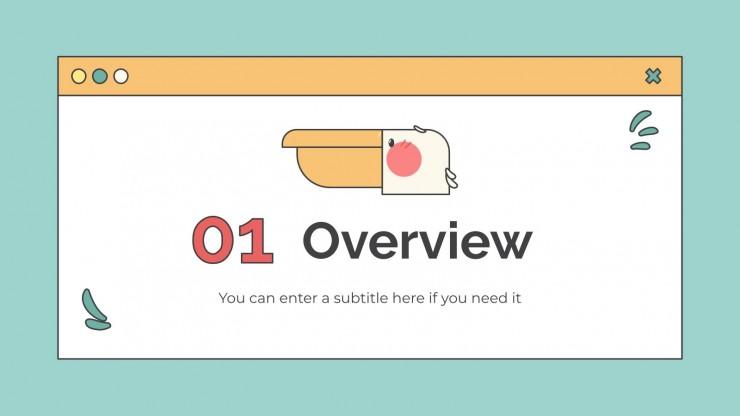 World Avifauna Lesson presentation template
