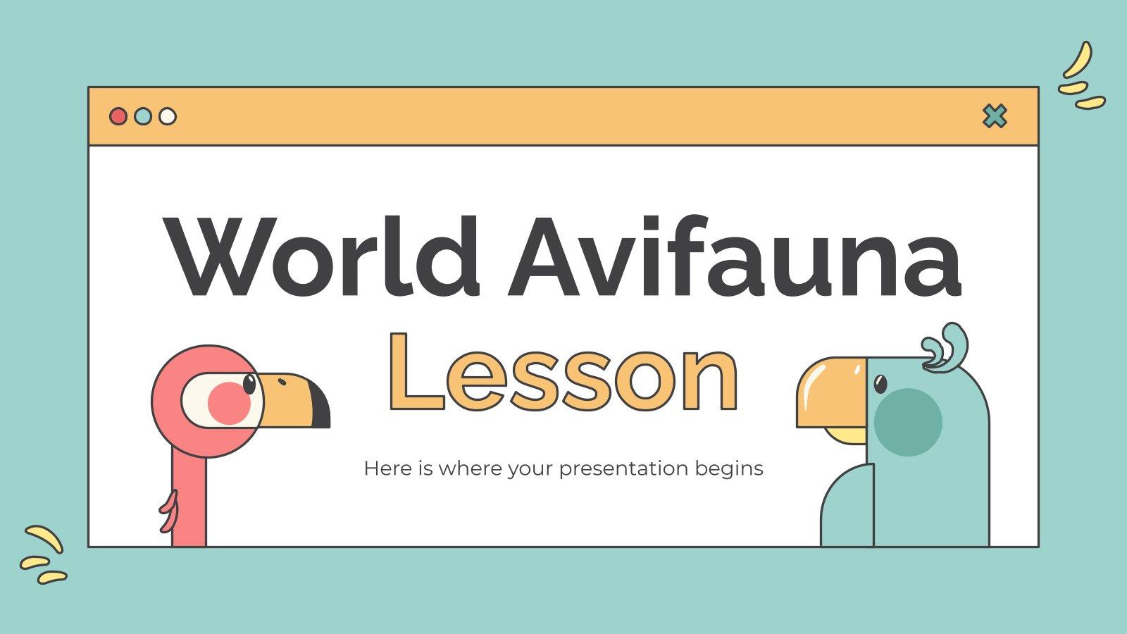Leçon sur l'avifaune mondiale : Modèles de présentation
