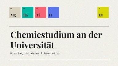 Chemistry Studies at College presentation template