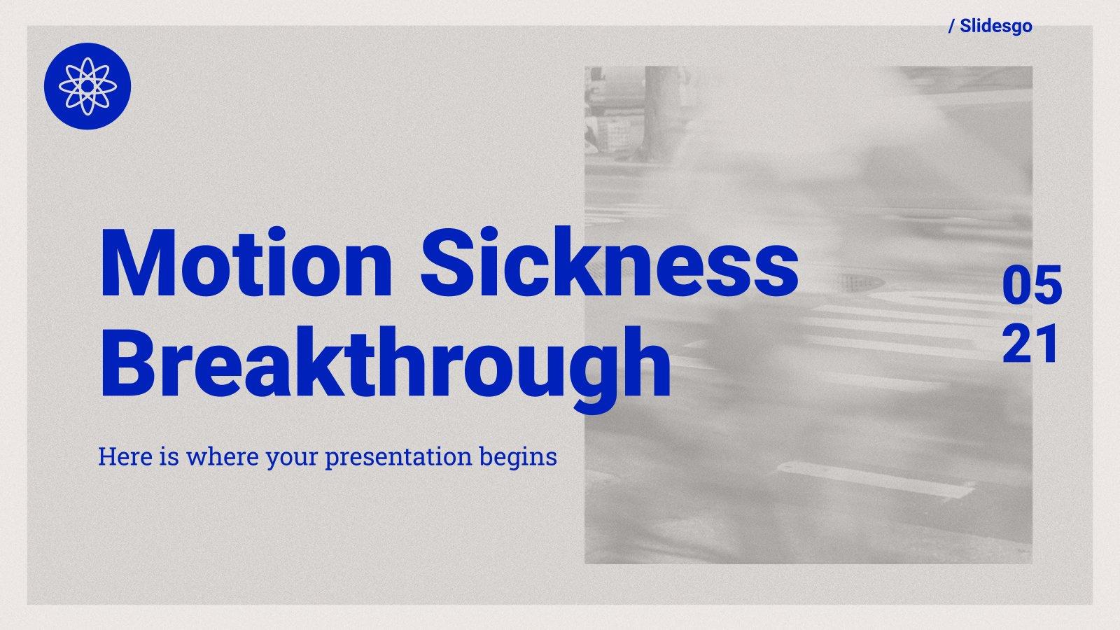 Motion Sickness Breakthrough presentation template
