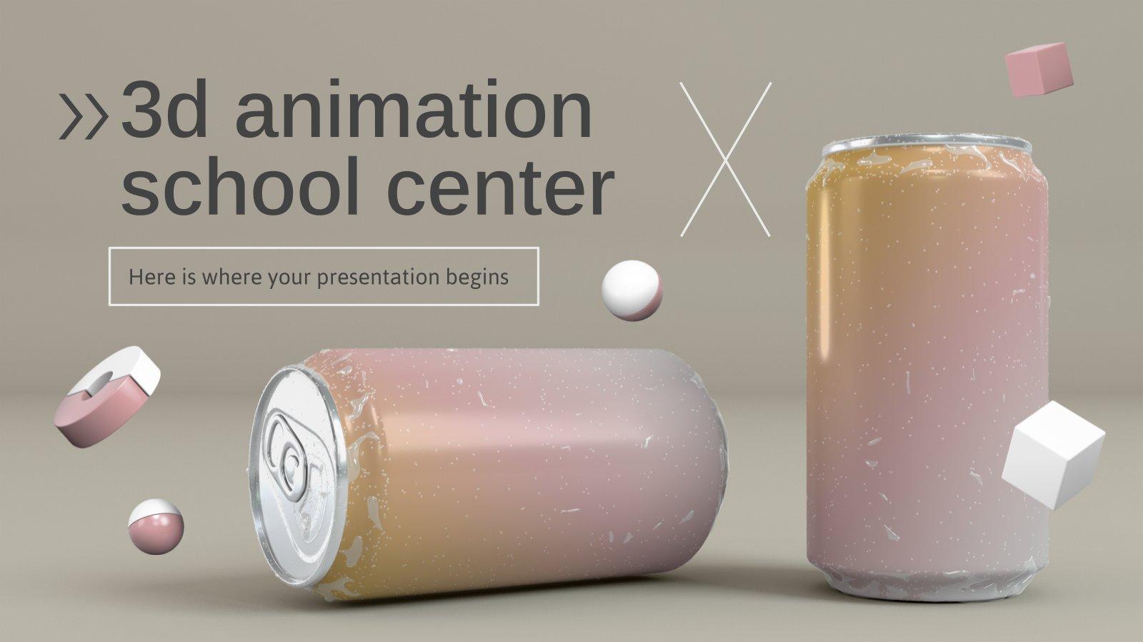 Plantilla de presentación Escuela de animación 3D