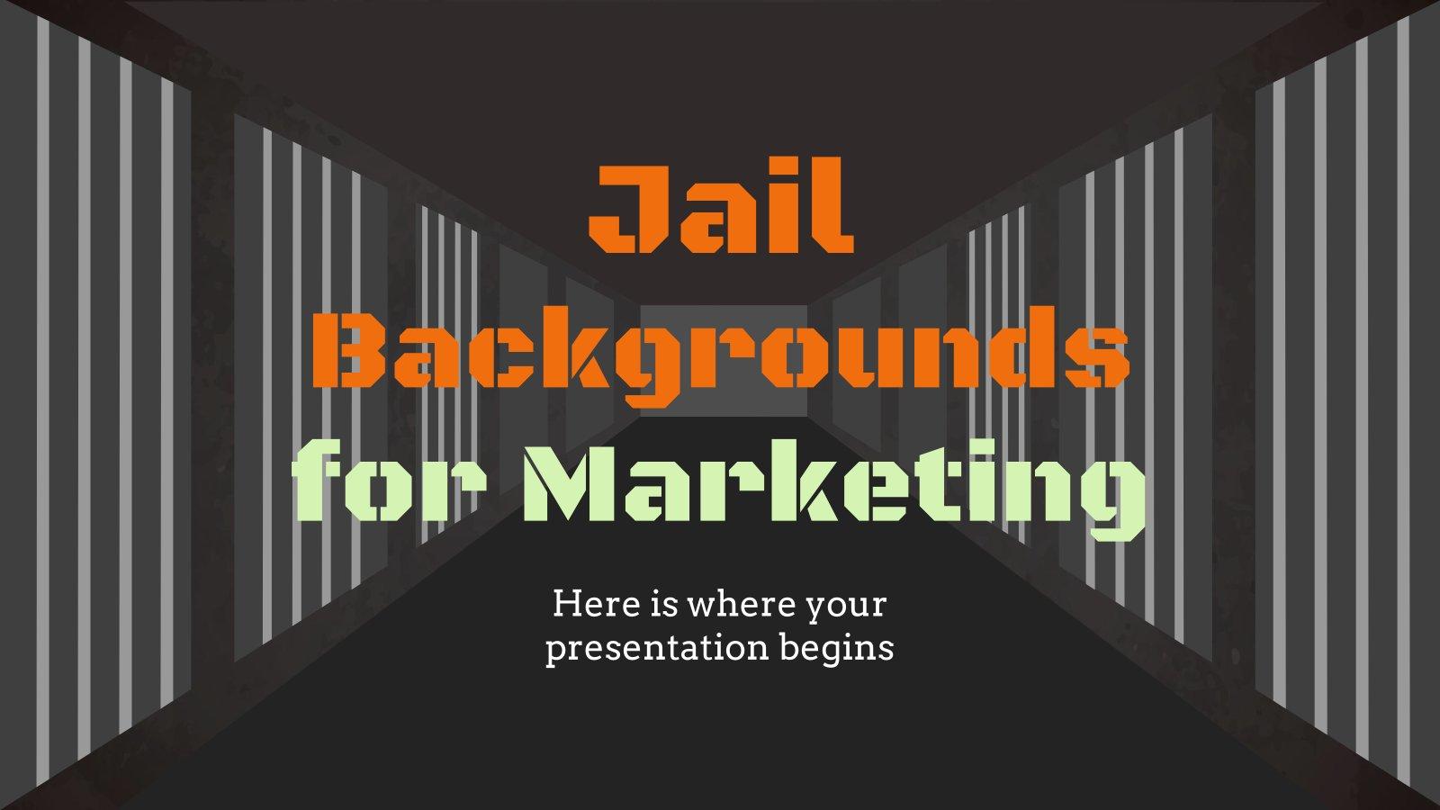 Jail Backgrounds for Marketing presentation template
