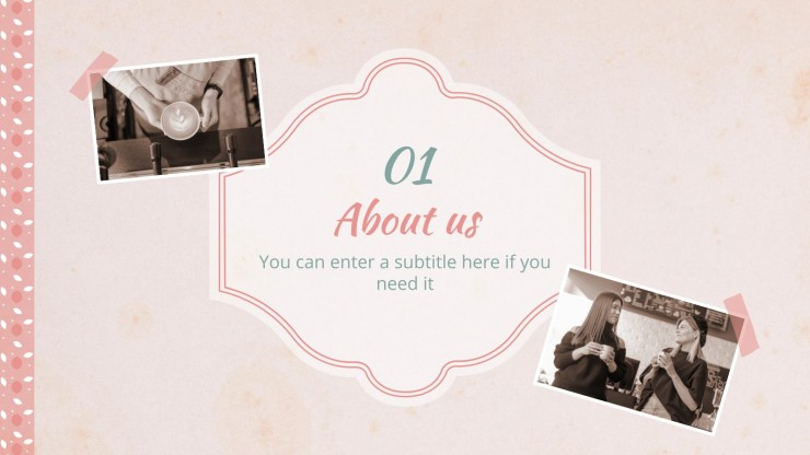 Vintage Photo Album Campaign presentation template