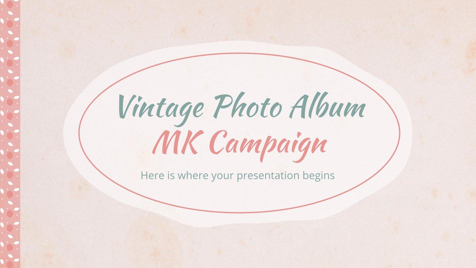 Plantilla de presentación Campaña con álbum de fotos vintage