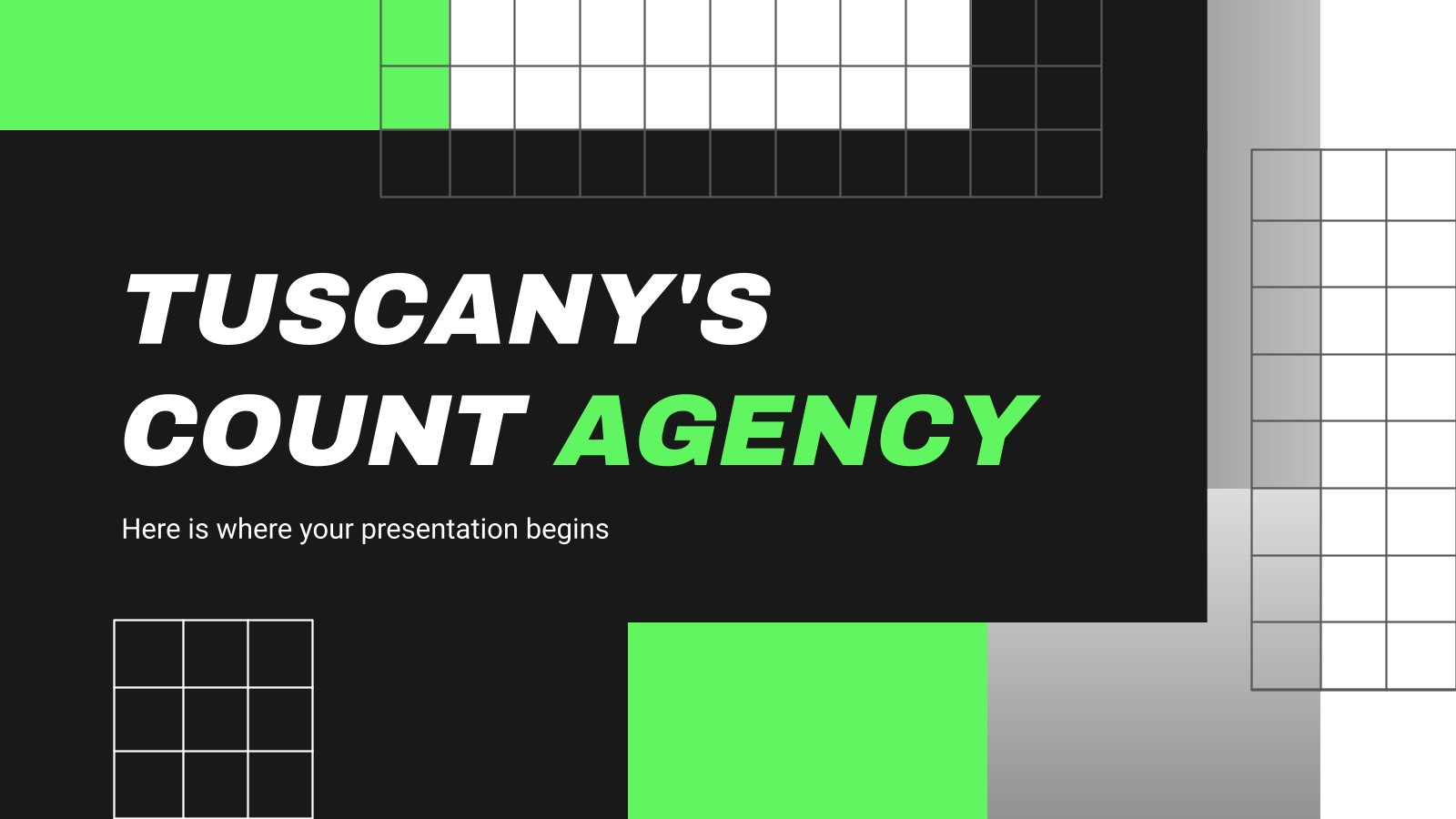 Tuscany's Count Agency presentation template