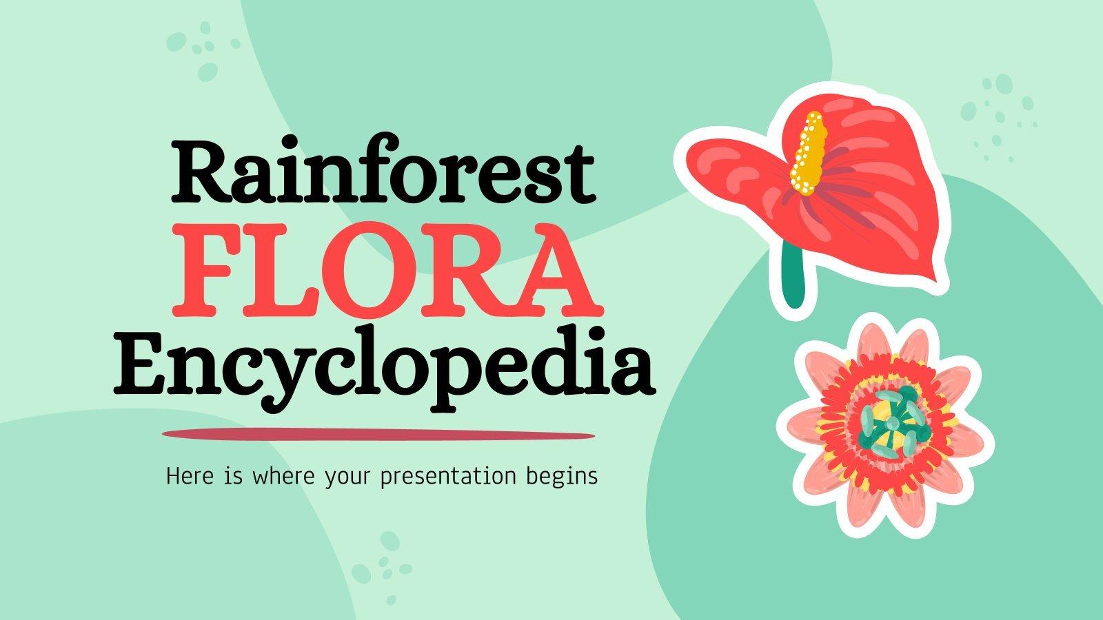 Encyclopédie de la flore des forêts tropicales : Modèles de présentation