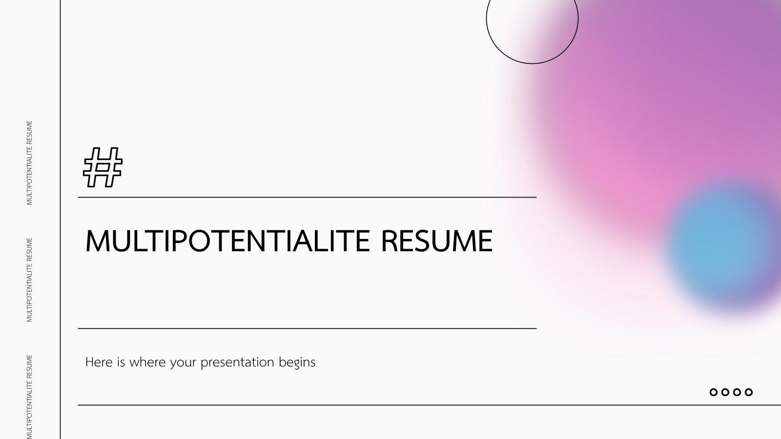 Multipotentialite Resume presentation template