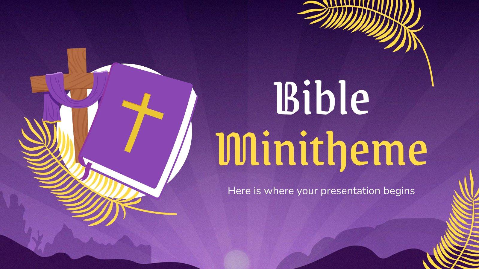 Plantilla de presentación Minitema de la Biblia