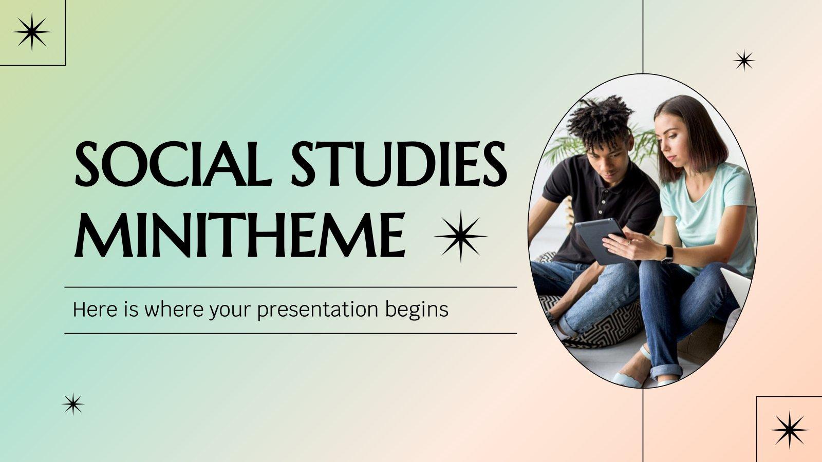 Social Studies Minitheme presentation template