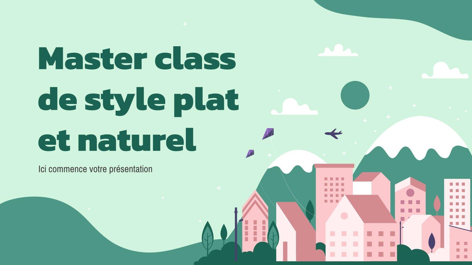 Master class de style plat et naturel presentation template