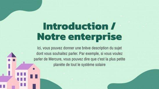 Modelo de apresentação Master class de style plat et naturel
