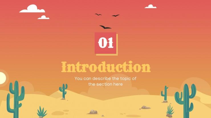 Desert Minitheme presentation template