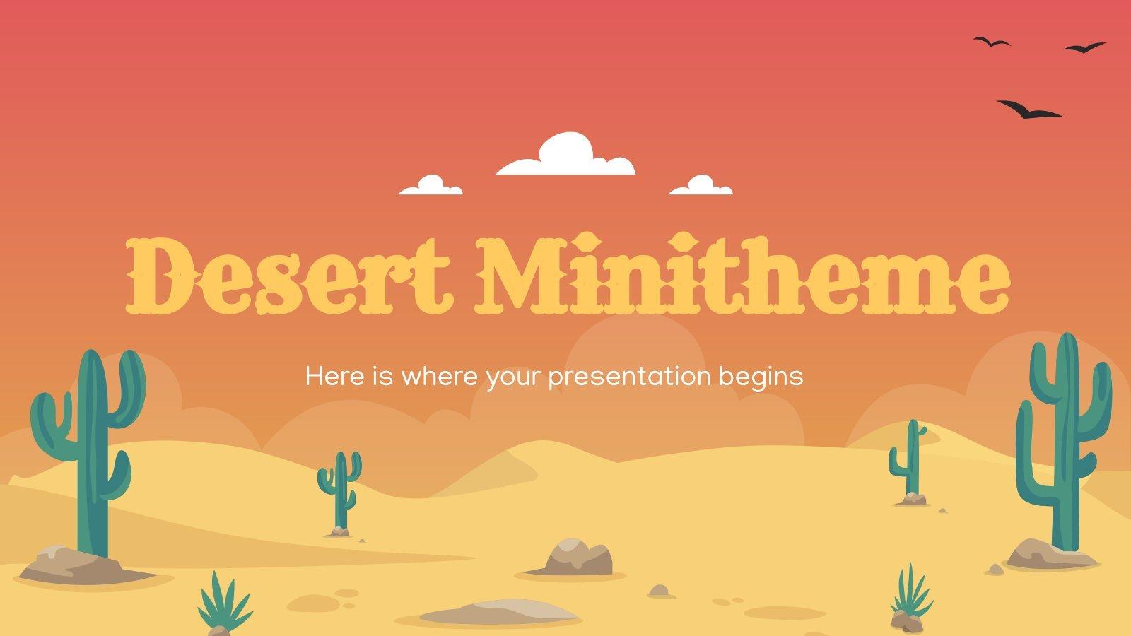 Minithème sur le désert : Modèles de présentation