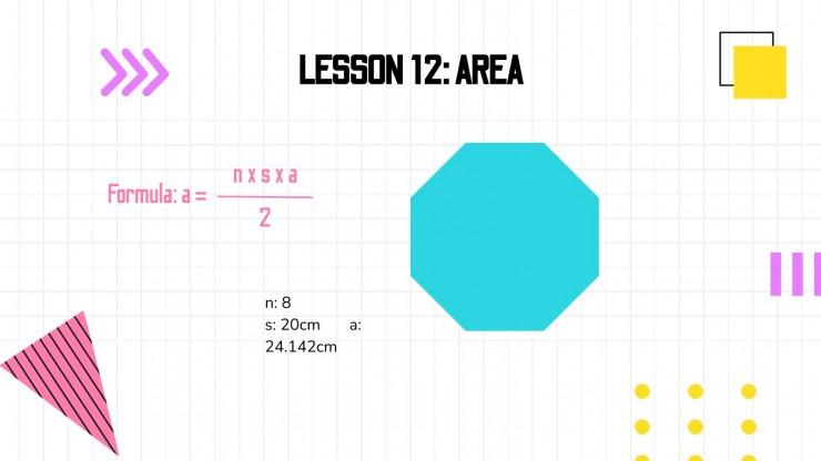 Plantilla de presentación Matemáticas para primaria: Geometría