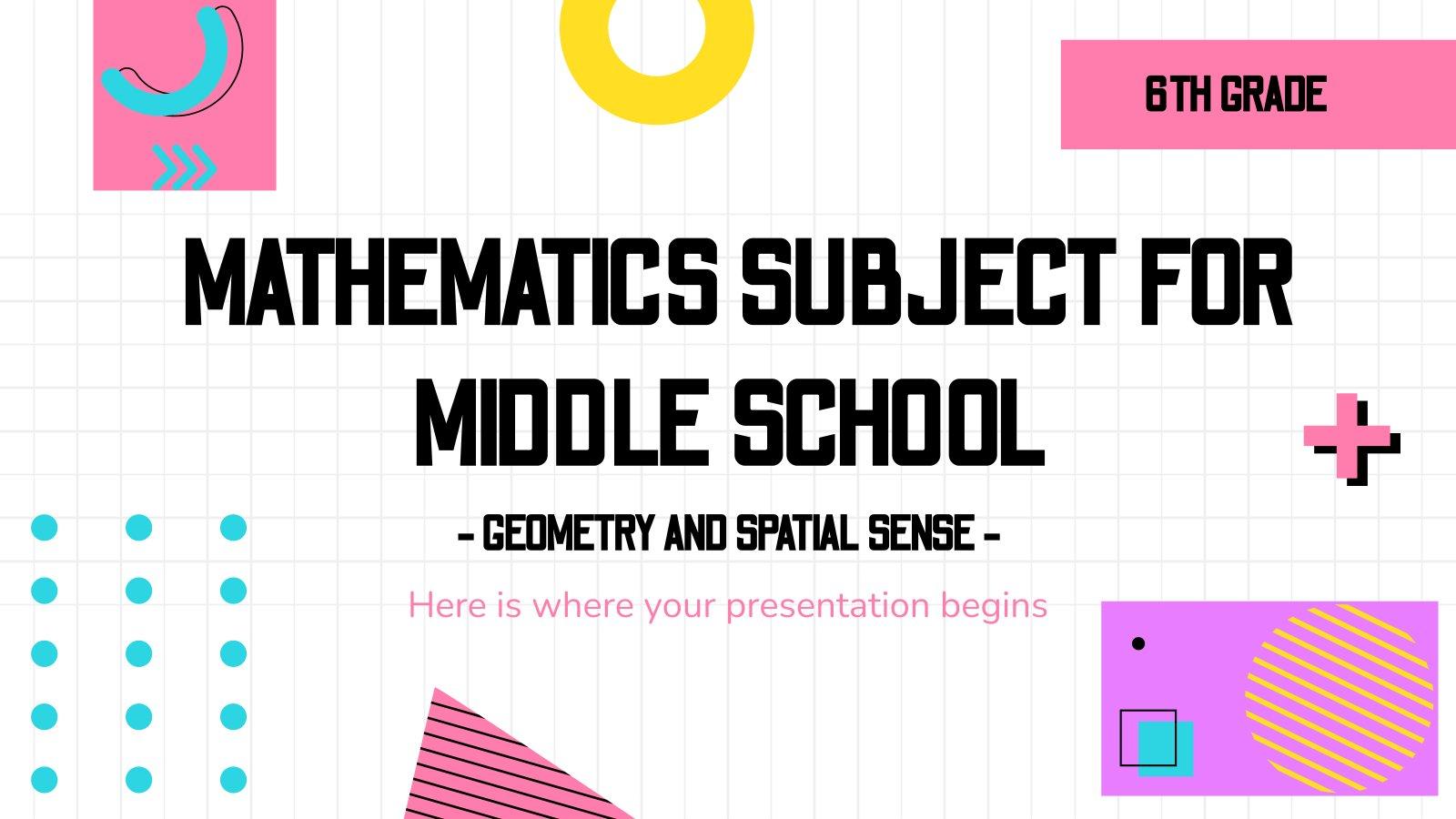 Mathématiques pour l'école : Géométrie : Modèles de présentation