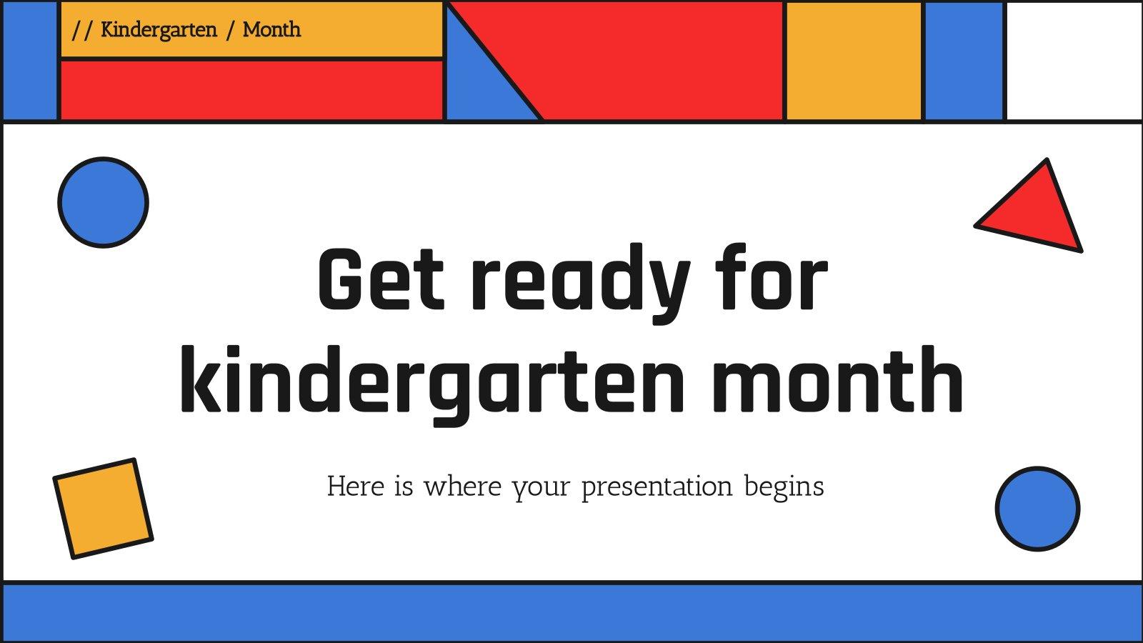 Get Ready for Kindergarten Month presentation template