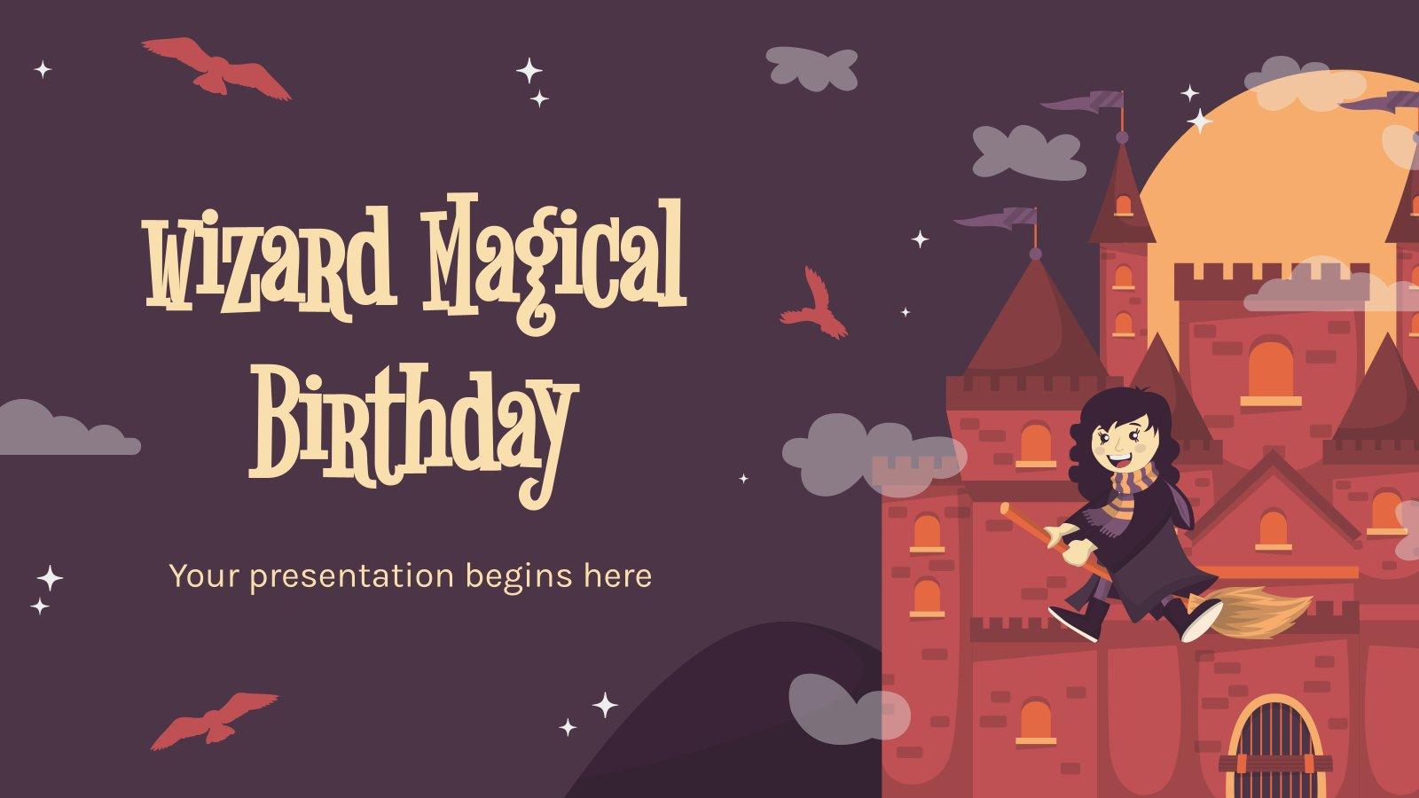 Zauberer Magischer Geburtstag Präsentationsvorlage