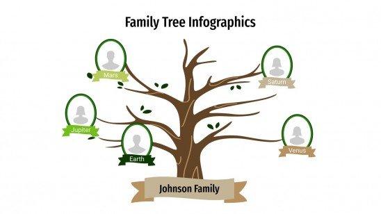 Stammbaum Infografiken Präsentationsvorlage