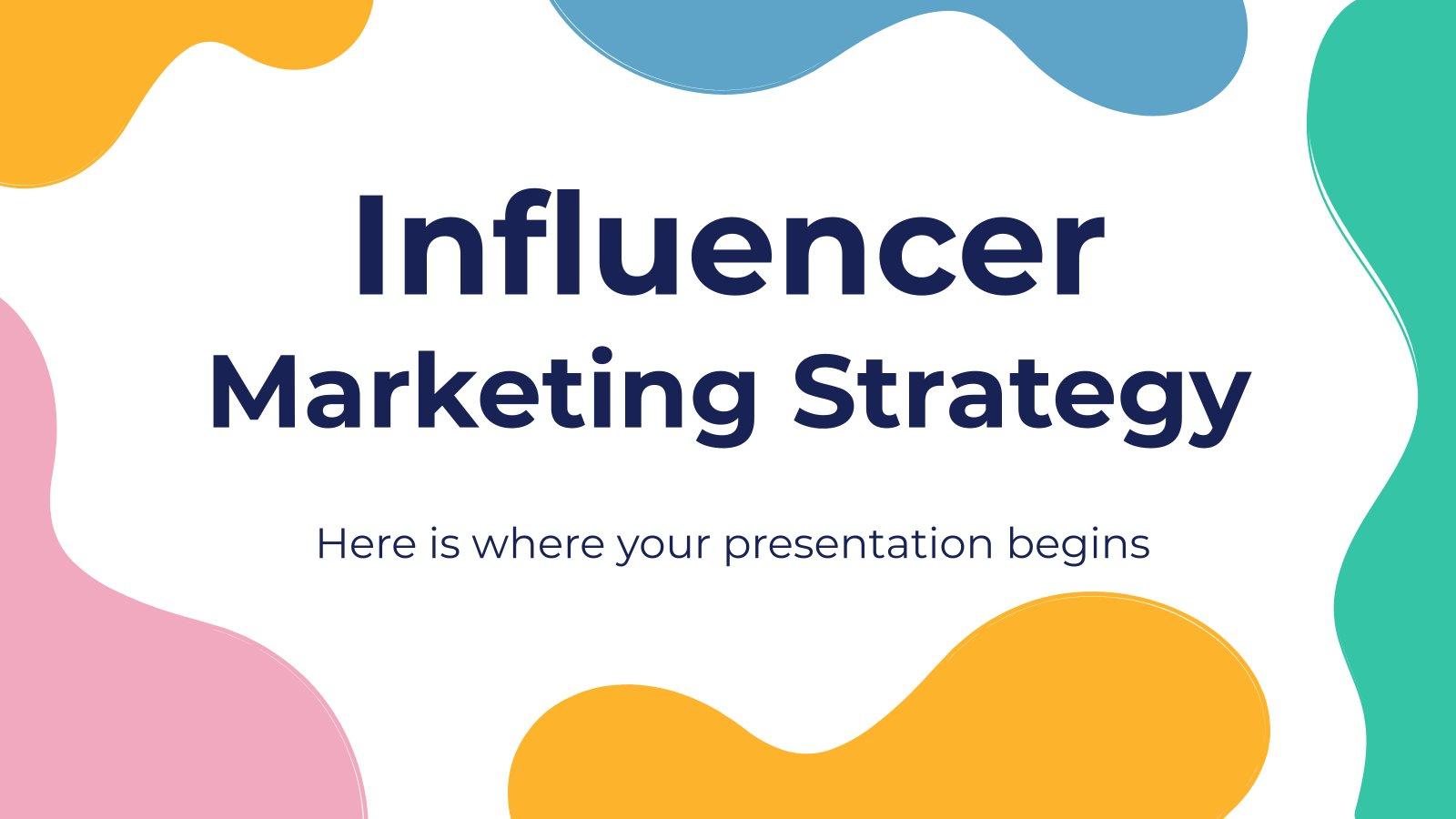 Influencer Marketing Strategy presentation template