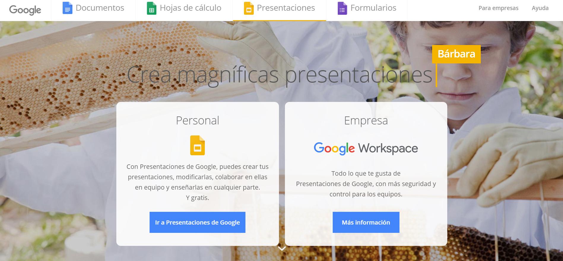 para qué sirve Google Slides