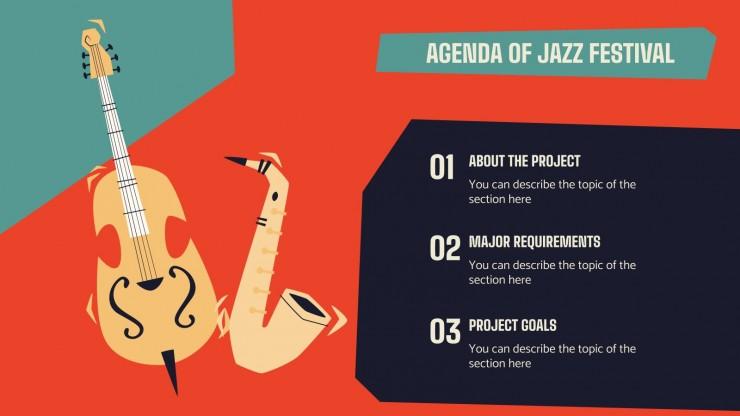 Plantilla de presentación Campaña para festival de jazz
