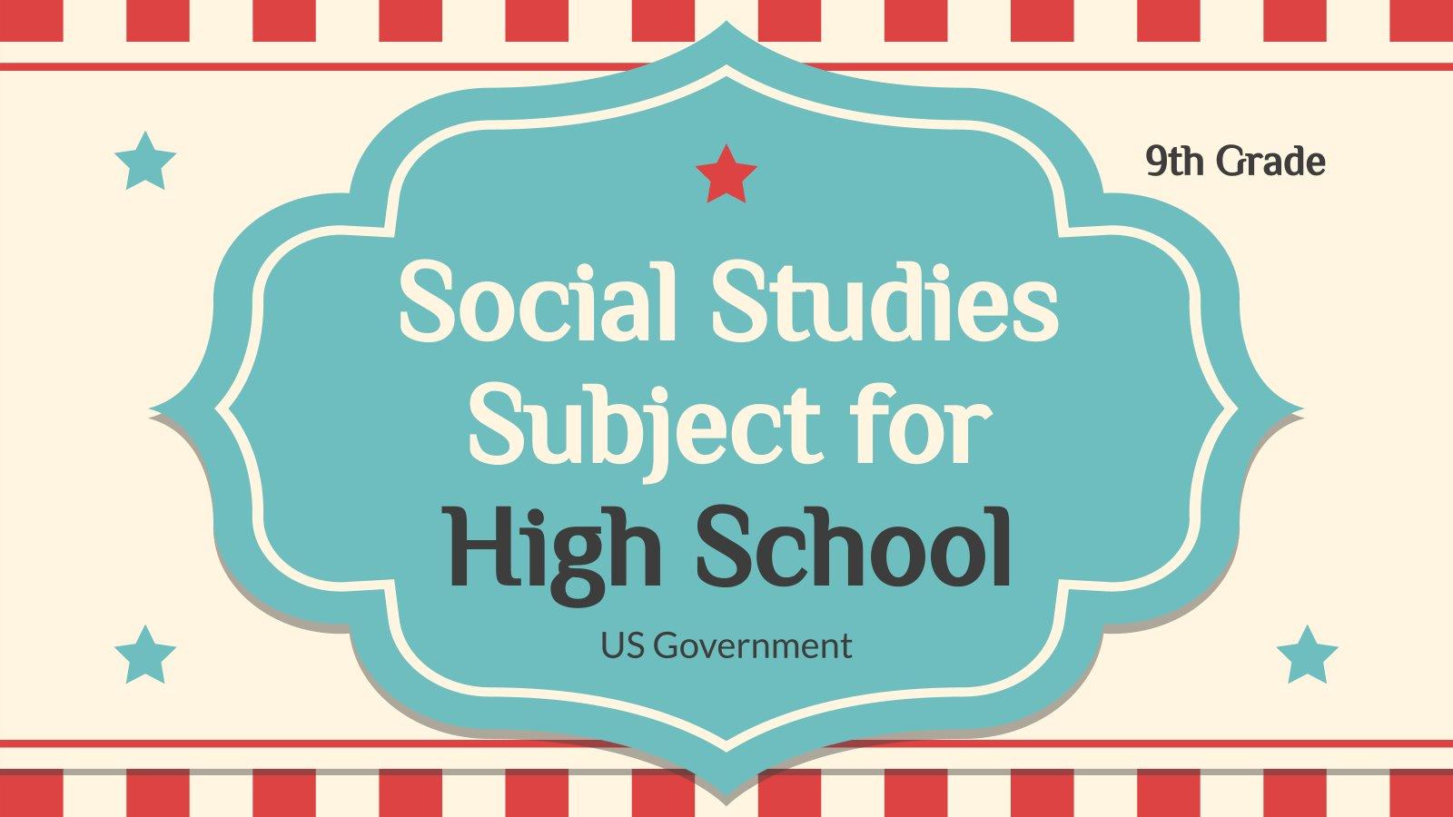 Plantilla de presentación Ciencias sociales para el instituto: Gobierno de EE.UU.