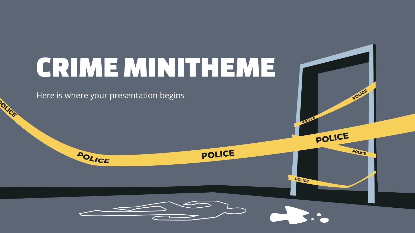 Plantilla de presentación Minitema sobre el crimen