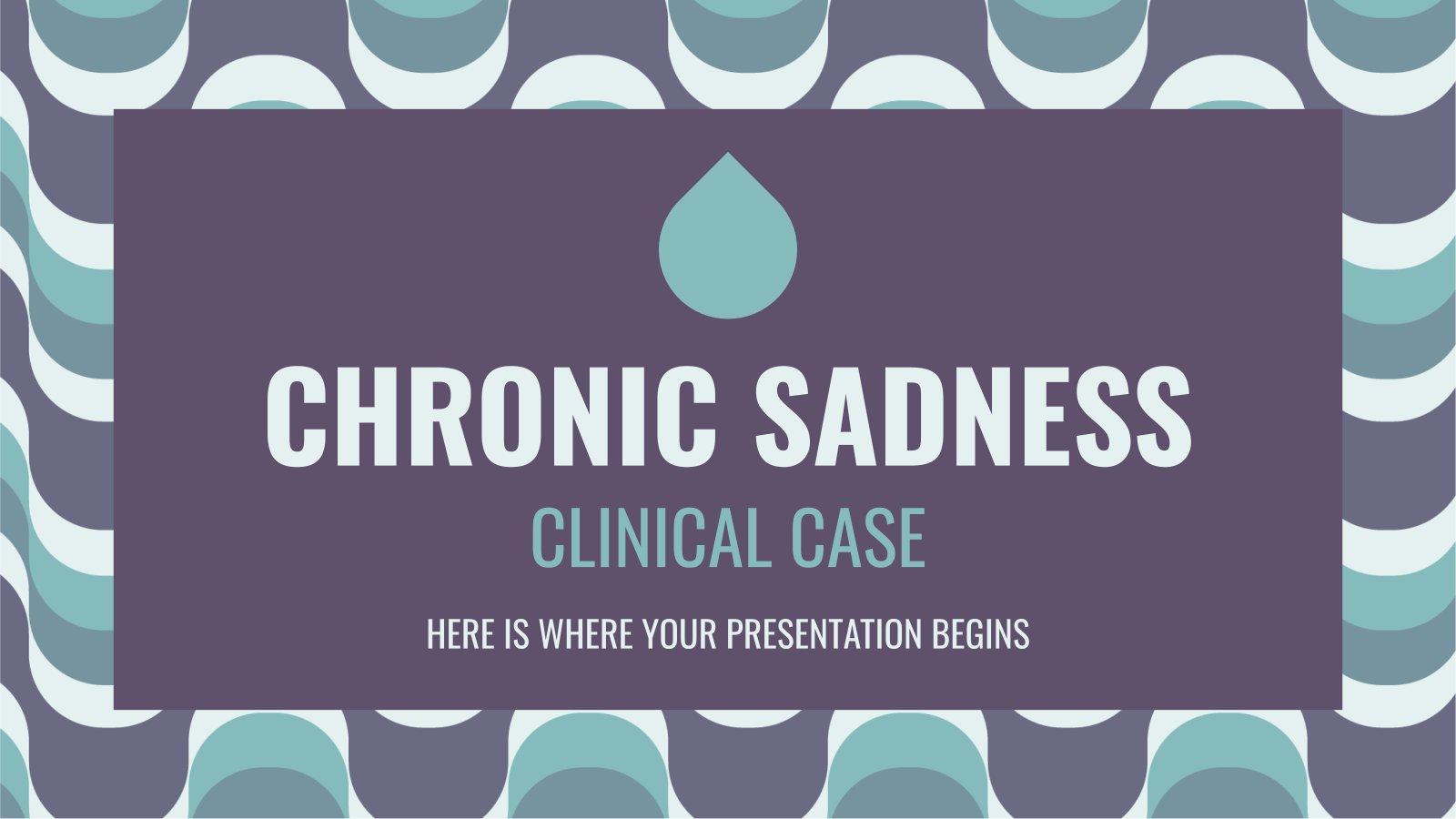 Klinischer Fall von chronischer Traurigkeit Präsentationsvorlage