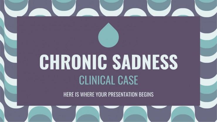 Plantilla de presentación Caso clínico de tristeza crónica