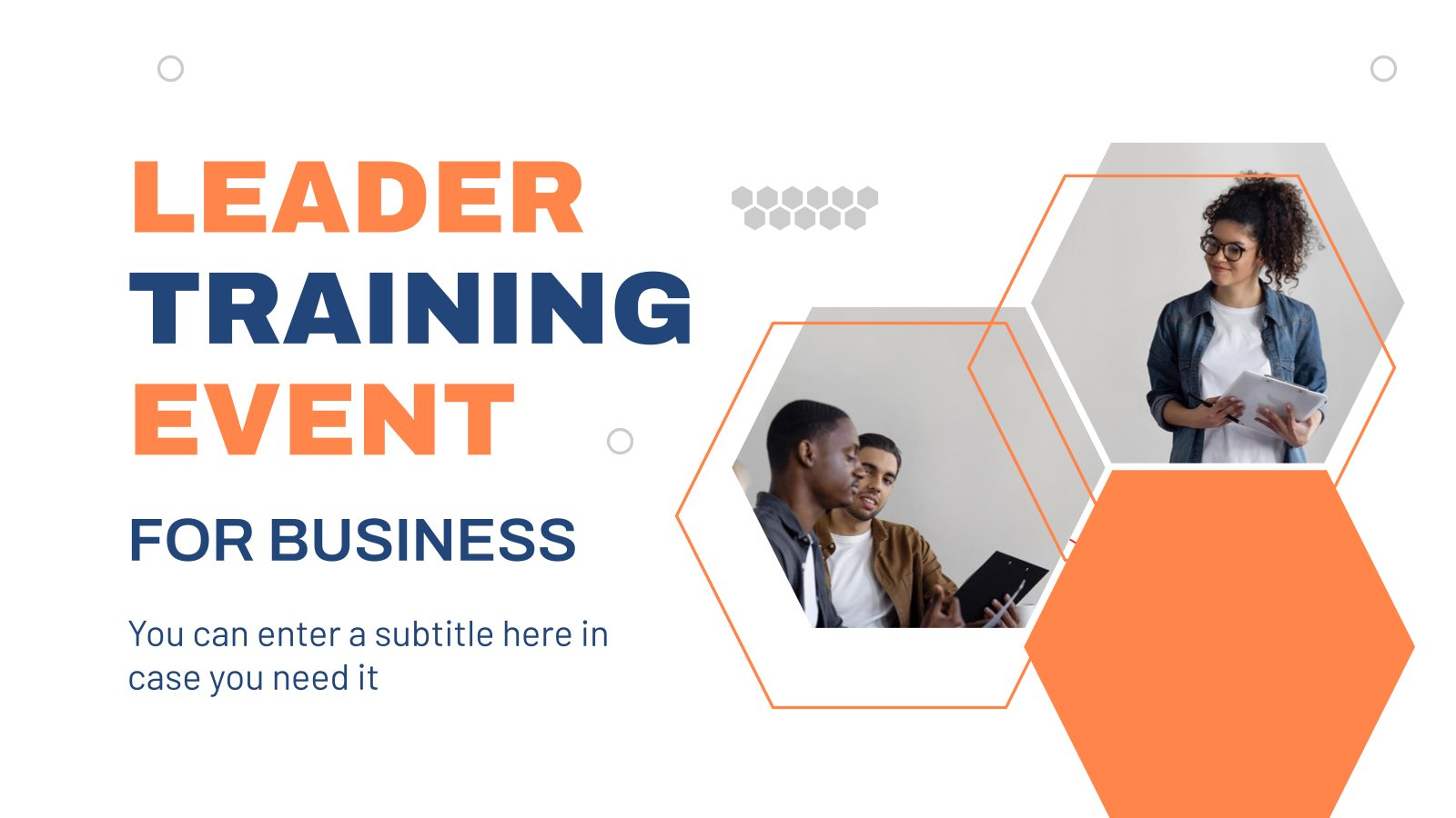 Leadership Training Event for Business presentation template