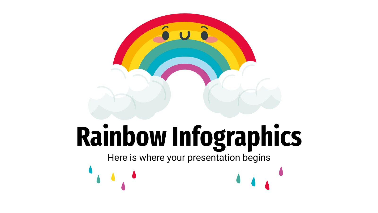 Infographies sur l'arc-en-ciel : Modèles de présentation